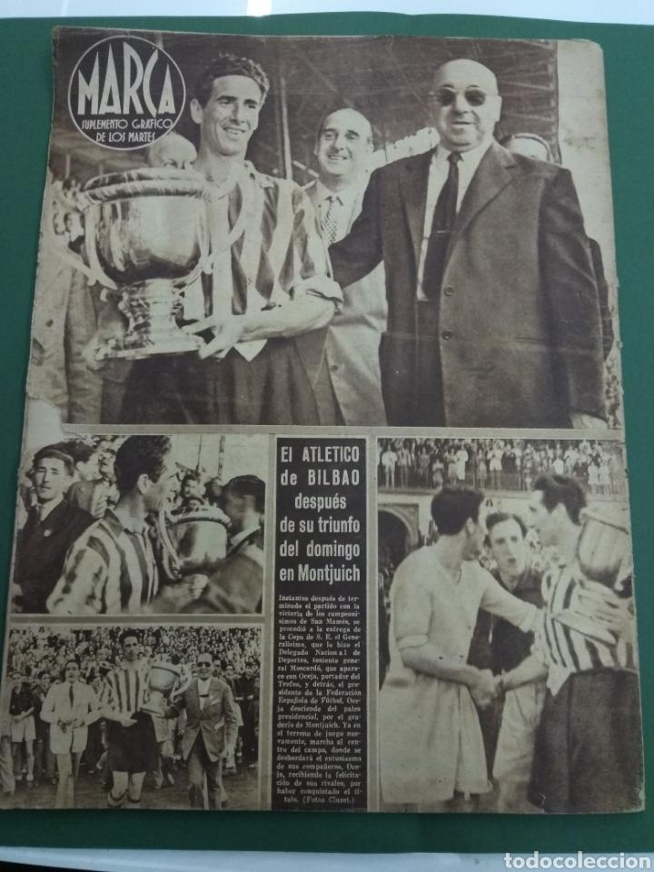 Coleccionismo deportivo: ATLETICO DE BILBAO CAMPEON Copa Generalisimo 1944 Marca COMPLETO REPORTAJE FOTOGRÁFICO Athletic - Foto 20 - 145363077