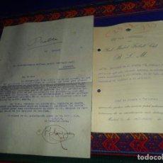 Coleccionismo deportivo: REAL MADRID DOCUMENTO AÑO 1923 VICE SECRETARIO DENEGACIÓN ENTRADAS DE PRENSA DIARIO PUEBLO Y RÉPLICA. Lote 145623962