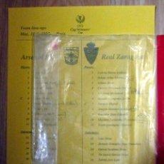 Coleccionismo deportivo: COPIA HOJA PRENSA FINAL REAL ZARAGOZA ARSENAL RECOPA 1995 UEFA WINNER´S CUP. Lote 145932482
