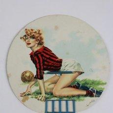 Coleccionismo deportivo: PR-264 ABANICO PAY PAY COMERCIAL GIOVANNI GUAGLIARDO.ITALIA.TEMATICA DE FUTBOL.MEDIADOS DE SIGLO XX.. Lote 147126706