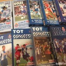 Coleccionismo deportivo: 9 VIDEOS VHS TOT ESPANYOL - RESUMEN TEMPORADAS 1995-96 A 2003-2004 RCD ESPANYOL. Lote 147575402