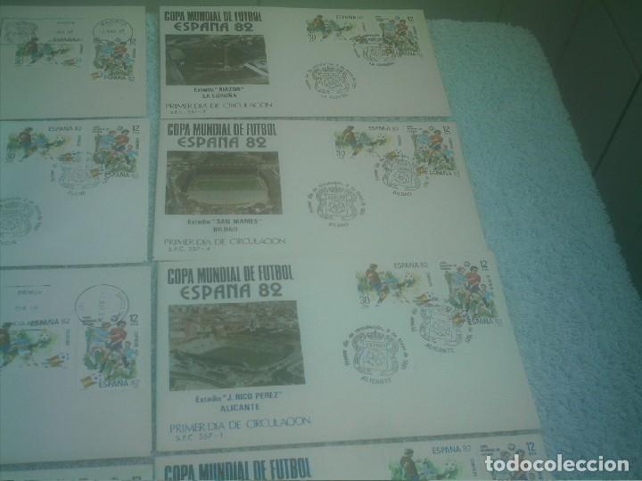 Coleccionismo deportivo: MUNDIAL ESPAÑA 82 17 ESTADIOS -17 SOBRES PRIMER DIA DE CIRCULACION - Foto 3 - 147652442