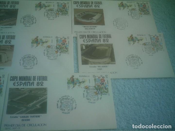 Coleccionismo deportivo: MUNDIAL ESPAÑA 82 17 ESTADIOS -17 SOBRES PRIMER DIA DE CIRCULACION - Foto 5 - 147652442