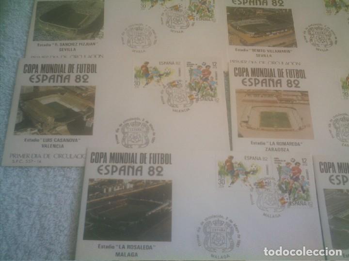 Coleccionismo deportivo: MUNDIAL ESPAÑA 82 17 ESTADIOS -17 SOBRES PRIMER DIA DE CIRCULACION - Foto 6 - 147652442
