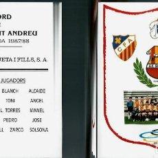 Coleccionismo deportivo: RECORD DE LA U.E. SANT ANDREU TEMPORADA 1987-88 - PEIXOS JOAN ROQUETA I FILLS. Lote 147735794