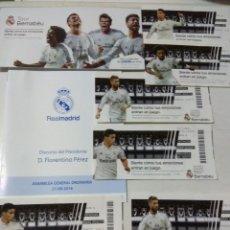 Coleccionismo deportivo: LOTE DE DIFERENTES DOCUMENTOS DEL REAL MADRID. Lote 147763006