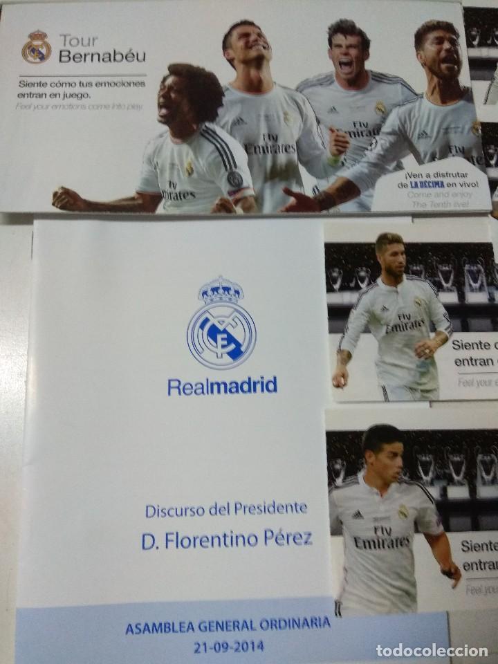 Coleccionismo deportivo: Lote de diferentes documentos del Real Madrid - Foto 2 - 147763006