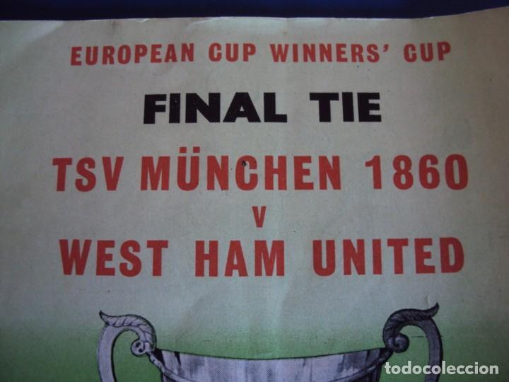 Coleccionismo deportivo: (F-190171)PROGRAMA OFICIAL EUROPEAN WINNERS CUP FINAL.TSV MUNCHEN - AUTOGRAFOS WEST HAM UNITED 1965 - Foto 2 - 147895558
