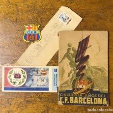 Coleccionismo deportivo: CLUB FÚTBOL BARCELONA, LOTE 50/75 ANIVERSARIO. Lote 149514626