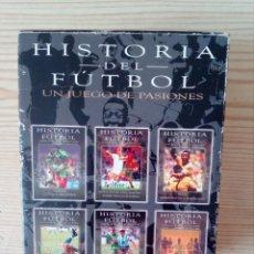 Coleccionismo deportivo: HISTORIA DEL FUTBOL - UN JUEGO DE PASIONES - 6 DVD. Lote 206454200