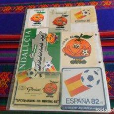 Coleccionismo deportivo: LOTE 7 PEGATINA ADHESIVO NARANJITO LOGOTIPO MUNDIAL FÚTBOL ESPAÑA 82 1982. RARAS. . Lote 150324150