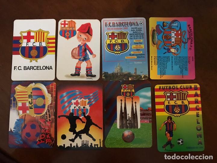 LOTE 19 CALENDARIOS DE BOLSILLO FC BARCELONA. TODOS DIFERENTES. (Coleccionismo Deportivo - Documentos de Deportes - Otros)