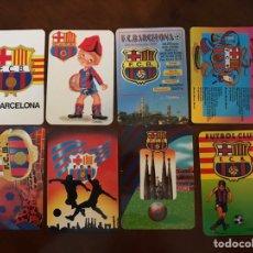 Coleccionismo deportivo: LOTE 19 CALENDARIOS DE BOLSILLO FC BARCELONA. TODOS DIFERENTES.. Lote 151108936