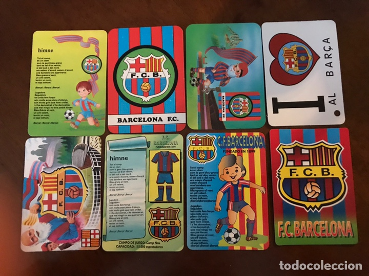 Coleccionismo deportivo: Lote 19 calendarios de bolsillo FC Barcelona. Todos diferentes. - Foto 2 - 151108936
