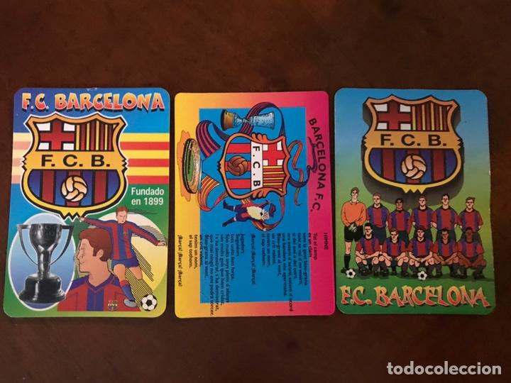 Coleccionismo deportivo: Lote 19 calendarios de bolsillo FC Barcelona. Todos diferentes. - Foto 3 - 151108936