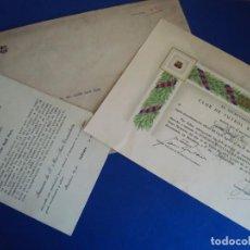 Coleccionismo deportivo: (F-190237)TITULO C.F.BARCELONA INSIGNIA ESPECIAL DE MERITO A JAUME BAYO I FONT COLABORADOR DE GAUDI. Lote 151485418
