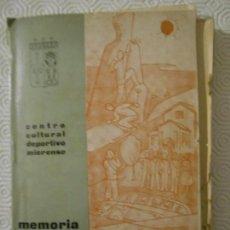 Coleccionismo deportivo: CENTRO CULTURAL DEPORTIVO MIERENSE. MEMORIA AÑO 1962. REPORTAJES, FOTOGRAFIAS, MAPAS DE RUTAS DE MON. Lote 151872610