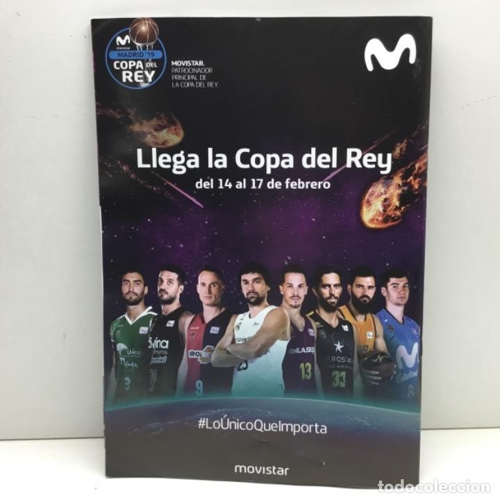 Coleccionismo deportivo: PROGRAMA OFICIAL COPA DEL REY 2019 - BALONCESTO - ACB - MADRID - Foto 2 - 152032106