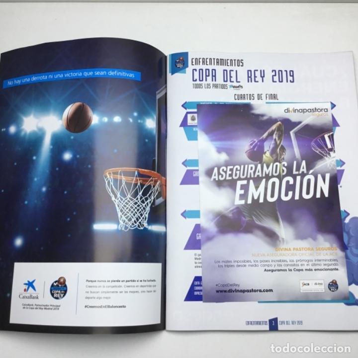 Coleccionismo deportivo: PROGRAMA OFICIAL COPA DEL REY 2019 - BALONCESTO - ACB - MADRID - Foto 3 - 152032106