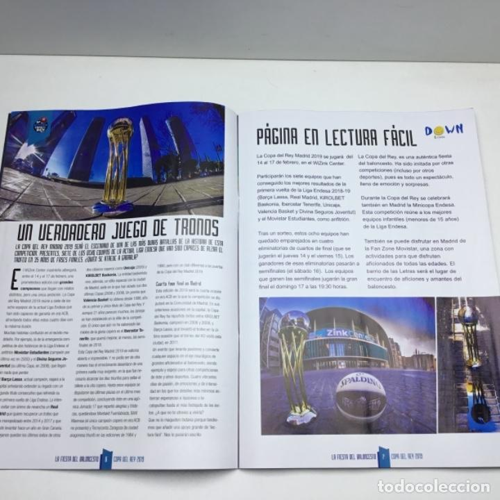Coleccionismo deportivo: PROGRAMA OFICIAL COPA DEL REY 2019 - BALONCESTO - ACB - MADRID - Foto 4 - 152032106