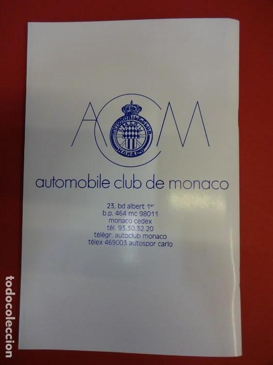 Coleccionismo deportivo: RALLYE MONTE-CARLO. Reglamento ORIGINAL edición 1988. - Foto 3 - 154166410