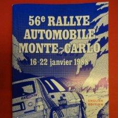 Coleccionismo deportivo: RALLYE MONTE-CARLO. REGLAMENTO ORIGINAL EDICIÓN 1988. . Lote 154166410