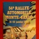 Coleccionismo deportivo: RALLYE MONTE-CARLO. PROGRMA ORIGINAL EDICIÓN 1988. . Lote 154166518