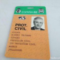 Coleccionismo deportivo: ANTIGUO CARNET DE ESPAÑA 82 . Lote 154177386
