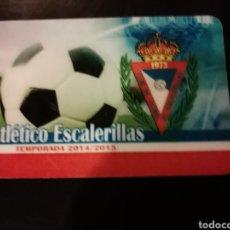 Coleccionismo deportivo: CARNET FÚTBOL SORTEO ATLÉTICO ESCALERILLAS ZARAGOZA. Lote 154337709