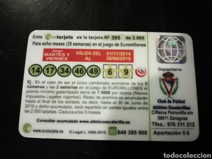 Coleccionismo deportivo: Carnet fútbol sorteo atlético escalerillas Zaragoza - Foto 2 - 154337709