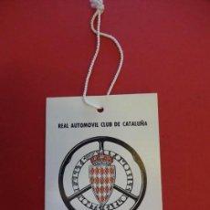 Coleccionismo deportivo: RALLYE DE MONTE-CARLO. RACC. ACREDITACION ORIGINAL CONTROL BARCELONA. AÑOS 1970S. Lote 154374726