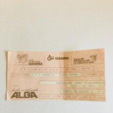 Coleccionismo deportivo: ENTRADA CAI ZARAGOZA-CLESA FERROL. LIGA ACB. BALONCESTO. ZARAGOZA, 1989. Lote 154383018