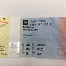 Coleccionismo deportivo: ENTRADA CERIMONIA INAUGURAL OLIMPIADAS BARCELONA 1992 92 INAGURACION JUEGOS OLIMPICOS COBI. Lote 154664170