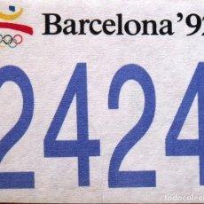 Coleccionismo deportivo: JOSEP MARIA TRIAS. DORSAL ORIGINAL SERIGRAFIADO JUEGOS OLÍMPICOS 1992. NÚMERO 2424. BARCELONA 92.. Lote 155624102
