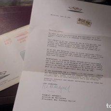 Coleccionismo deportivo: AUTOGRAFOS OLIMPIADA DE BARCELONA JUNY 1986 CARTA CON SU SOBRE , CON AUTOGRAFO ORIGINAL DEL ALCALDE . Lote 155669722