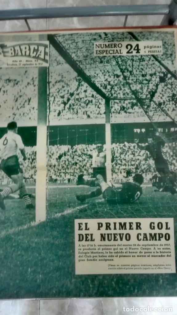 Coleccionismo deportivo: Espectacular lote con motivo de la Inauguración del Camp Nou en 1957 - Foto 9 - 155867590