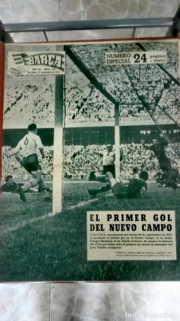 Coleccionismo deportivo: Espectacular lote con motivo de la Inauguración del Camp Nou en 1957 - Foto 10 - 155867590