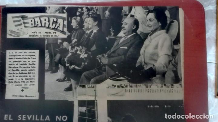 Coleccionismo deportivo: Espectacular lote con motivo de la Inauguración del Camp Nou en 1957 - Foto 14 - 155867590