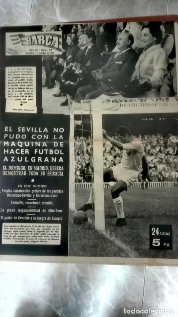 Coleccionismo deportivo: Espectacular lote con motivo de la Inauguración del Camp Nou en 1957 - Foto 15 - 155867590