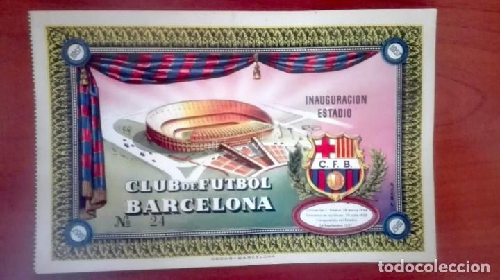 Coleccionismo deportivo: Espectacular lote con motivo de la Inauguración del Camp Nou en 1957 - Foto 42 - 155867590
