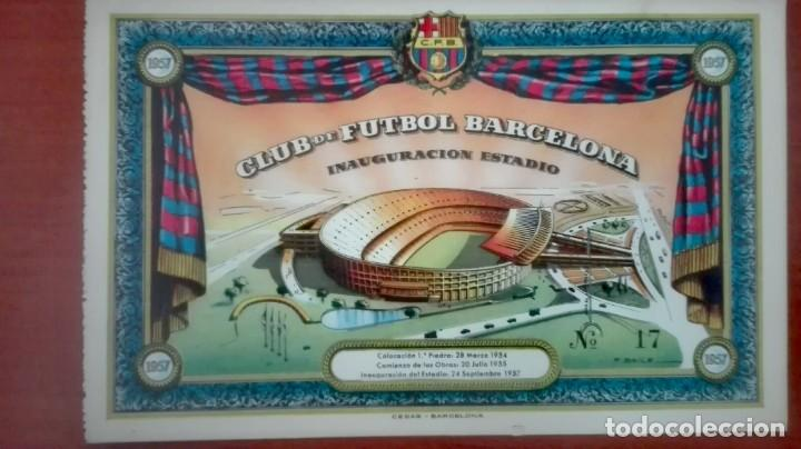 Coleccionismo deportivo: Espectacular lote con motivo de la Inauguración del Camp Nou en 1957 - Foto 43 - 155867590