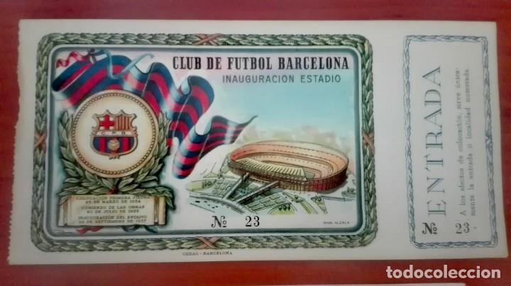 Coleccionismo deportivo: Espectacular lote con motivo de la Inauguración del Camp Nou en 1957 - Foto 44 - 155867590