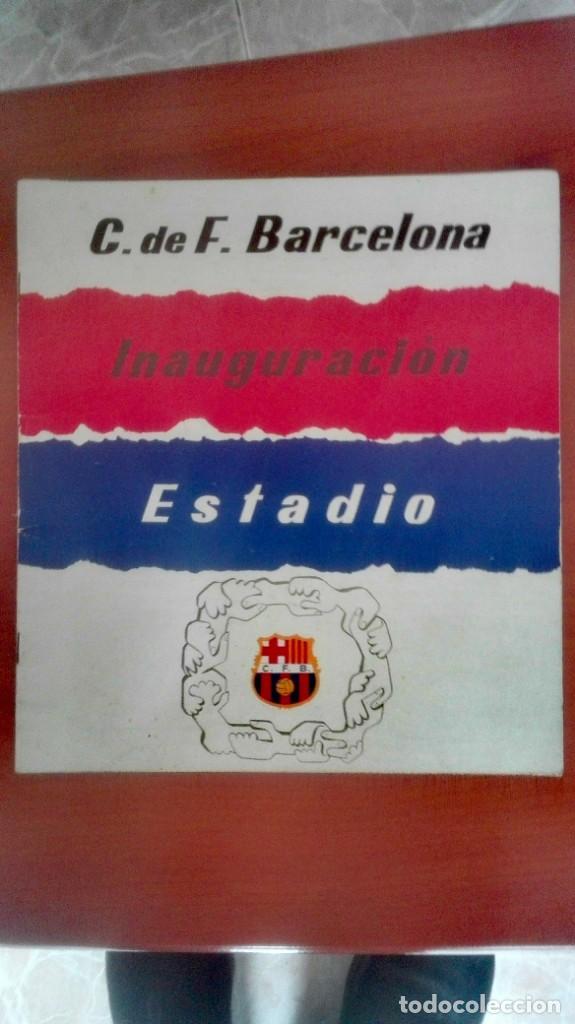 Coleccionismo deportivo: Espectacular lote con motivo de la Inauguración del Camp Nou en 1957 - Foto 49 - 155867590