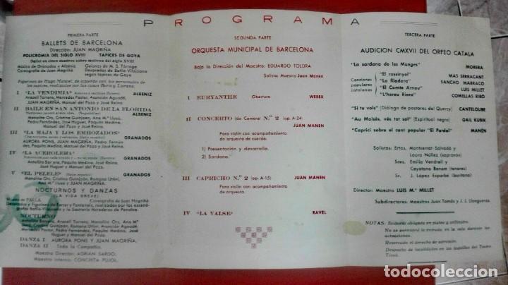 Coleccionismo deportivo: Espectacular lote con motivo de la Inauguración del Camp Nou en 1957 - Foto 55 - 155867590