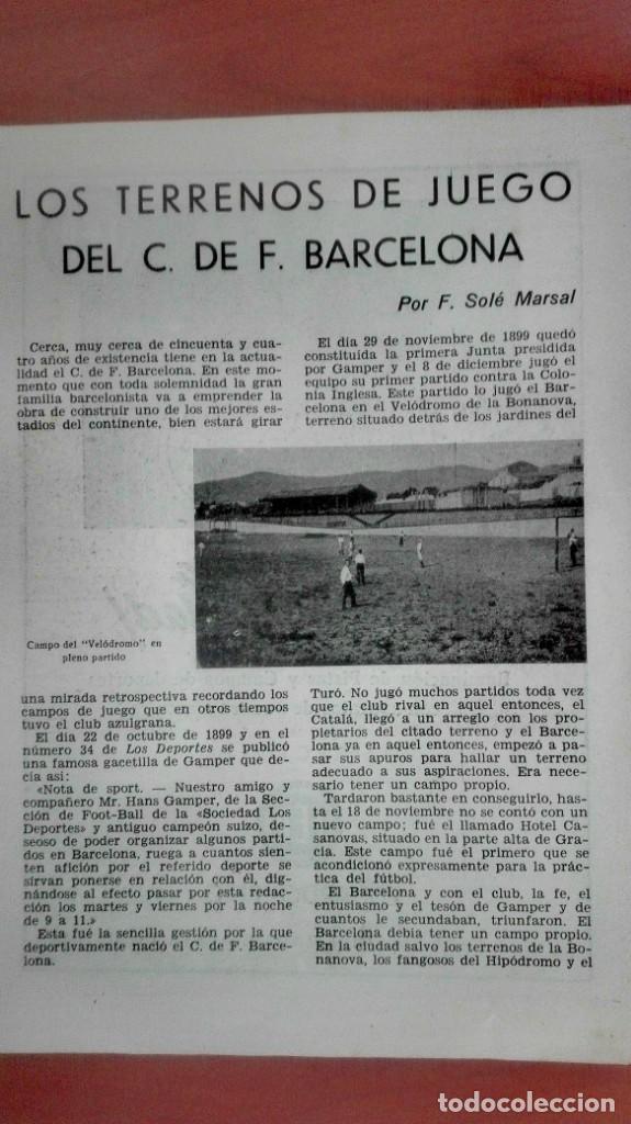 Coleccionismo deportivo: Espectacular lote con motivo de la Inauguración del Camp Nou en 1957 - Foto 60 - 155867590