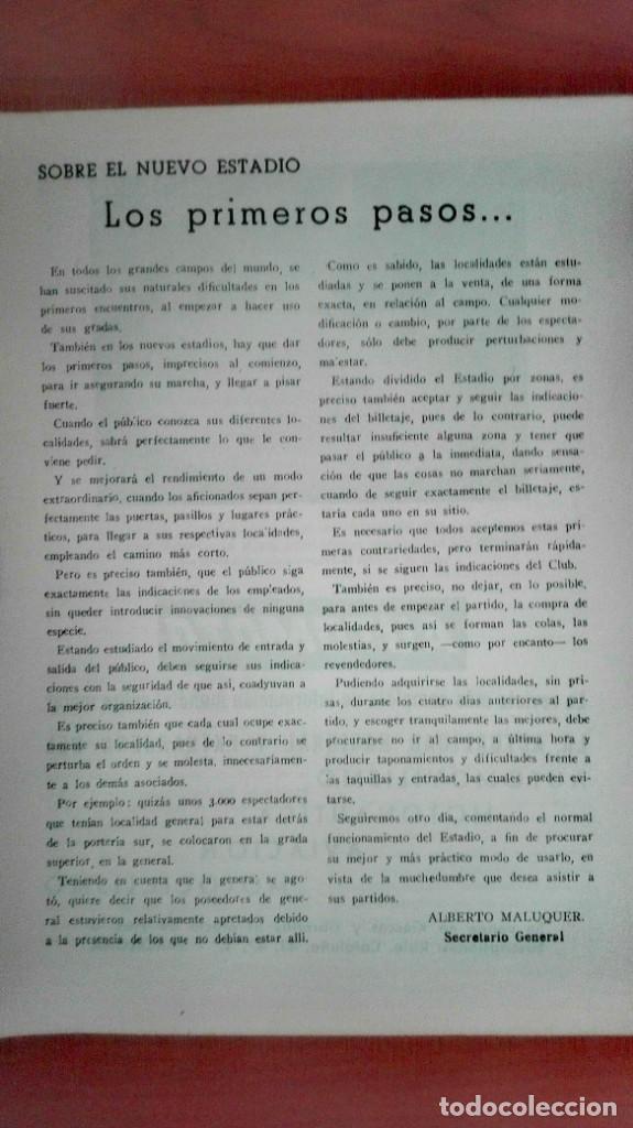 Coleccionismo deportivo: Espectacular lote con motivo de la Inauguración del Camp Nou en 1957 - Foto 62 - 155867590