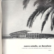 Coleccionismo deportivo: F.C. BARCELONA.ESTADIO.SUPLEMENTO REVISTA.JUNIO-JULIO 59.+CROQUIS-PLANO. Lote 155918094