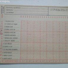 Coleccionismo deportivo: ANTIGUO BOLETO DE QUINIELA. AÑO 1982. JORNADA 29. SIN USAR. CON RESGUARDO Y PAPEL DE CALCA.. Lote 156992885