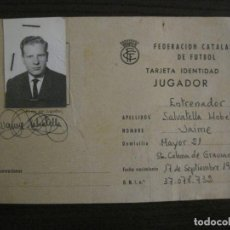 Coleccionismo deportivo: FEDERACION CATALANA FUTBOL-CARNET ENTRENADOR 1965-CF SAN SADURNI-JAIME SALVATELLA-VER FOTOS(V-16.221. Lote 157462510