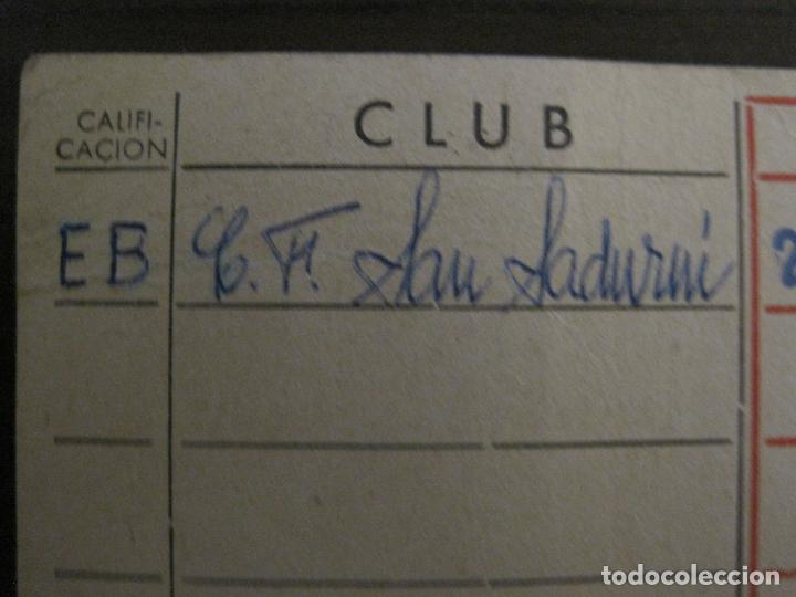 Coleccionismo deportivo: FEDERACION CATALANA FUTBOL-CARNET ENTRENADOR 1965-CF SAN SADURNI-JAIME SALVATELLA-VER FOTOS(V-16.221 - Foto 4 - 157462510